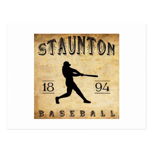 Béisbol 1894 de Staunton Virginia Postales