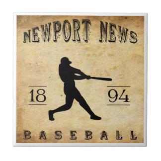 Béisbol 1894 de Virginia de las noticias de Newpor Azulejos Ceramicos