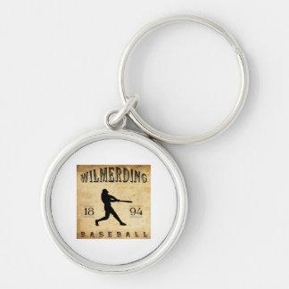 Béisbol 1894 de Wilmerding Pennsylvania Llavero Redondo Plateado