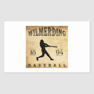 Béisbol 1894 de Wilmerding Pennsylvania Pegatina Rectangular