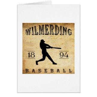 Béisbol 1894 de Wilmerding Pennsylvania Felicitación