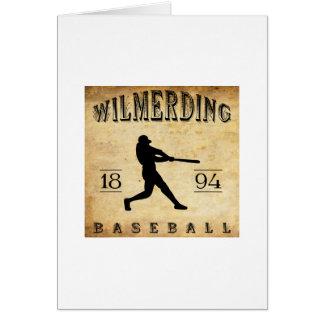 Béisbol 1894 de Wilmerding Pennsylvania Felicitacion