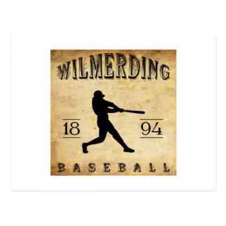 Béisbol 1894 de Wilmerding Pennsylvania Tarjeta Postal