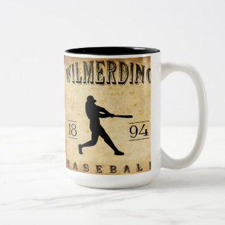 Béisbol 1894 de Wilmerding Pennsylvania Taza De Dos Tonos