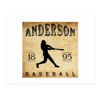 Béisbol 1895 de Anderson Indiana Tarjeta Postal