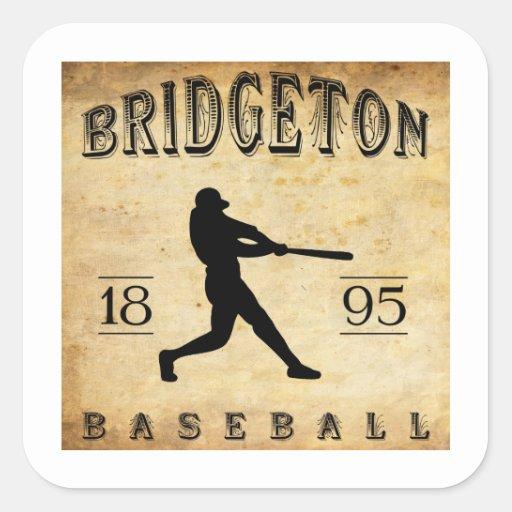 Béisbol 1895 de Bridgeton New Jersey Calcomania Cuadradas