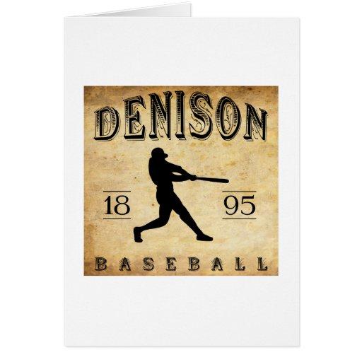 Béisbol 1895 de Denison Ohio Felicitacion