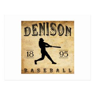 Béisbol 1895 de Denison Ohio Tarjetas Postales