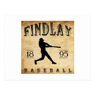 Béisbol 1895 de Findlay Ohio Postal