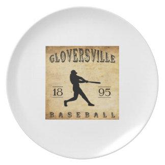 Béisbol 1895 de Gloversville Nueva York Plato Para Fiesta