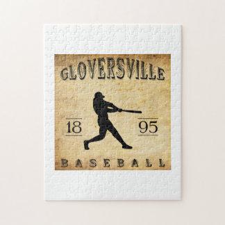 Béisbol 1895 de Gloversville Nueva York Rompecabeza Con Fotos