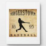 Béisbol 1895 de Hagerstown Maryland Placas De Plastico
