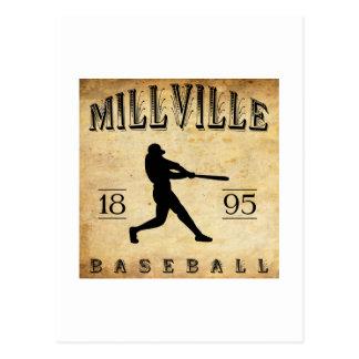 Béisbol 1895 de Millville New Jersey Postal