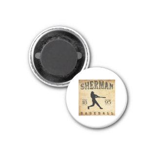 Béisbol 1895 de Sherman Tejas Imán Redondo 3 Cm