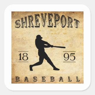 Béisbol 1895 de Shreveport Luisiana Pegatina Cuadradas