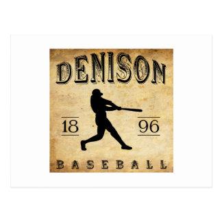 Béisbol 1896 de Denison Tejas Tarjeta Postal