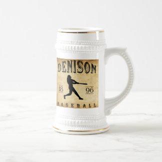 Béisbol 1896 de Denison Tejas Jarra De Cerveza