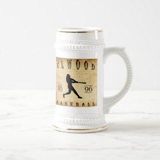 Béisbol 1896 de Elwood Indiana Jarra De Cerveza