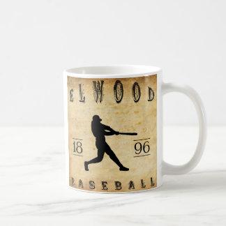 Béisbol 1896 de Elwood Indiana Taza De Café