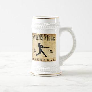 Béisbol 1896 de Evansville Wisconsin Jarra De Cerveza