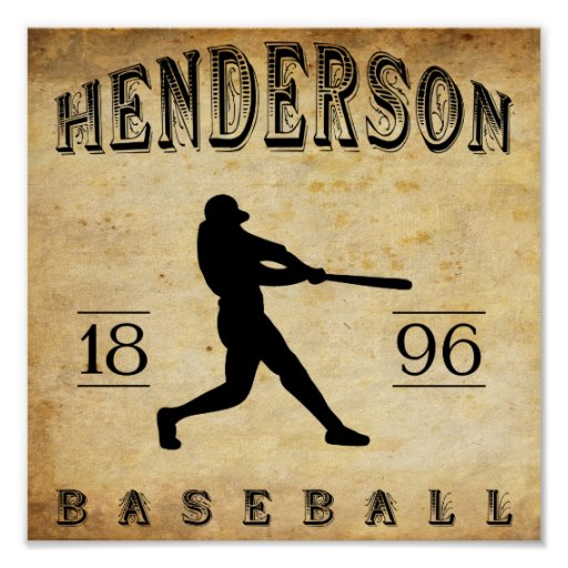 Béisbol 1896 de Henderson Kentucky Poster