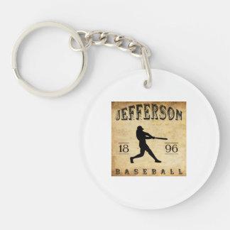 Béisbol 1896 de Jefferson Wisconsin Llavero Redondo Acrílico A Doble Cara