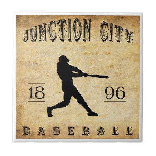 Béisbol 1896 de Junction City Kansas Azulejo Cerámica