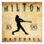 Béisbol 1896 de Milton Pennsylvania Impresion Fotografica