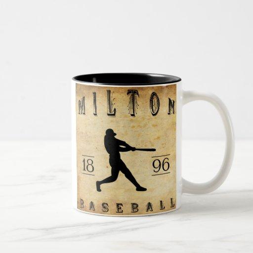 Béisbol 1896 de Milton Pennsylvania Taza De Dos Tonos