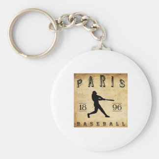 Béisbol 1896 de París Tejas Llavero Redondo Tipo Pin