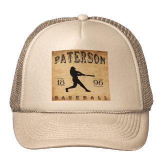 Béisbol 1896 de Paterson New Jersey Gorros