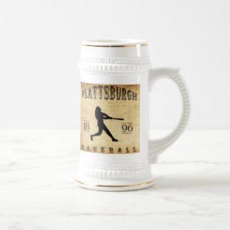 Béisbol 1896 de Plattsburgh Nueva York Jarra De Cerveza