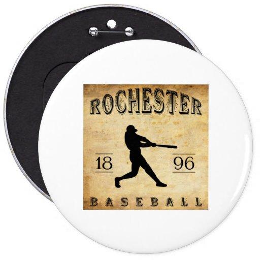 Béisbol 1896 de Rochester New Hampshire Pin Redondo De 6 Pulgadas