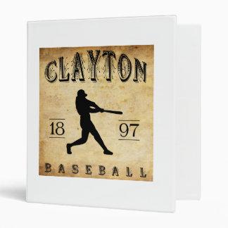 """Béisbol 1897 de Clayton New Jersey Carpeta 1"""""""