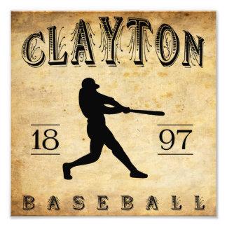 Béisbol 1897 de Clayton New Jersey Impresión Fotográfica