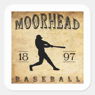 Béisbol 1897 de Moorhead Minnesota Pegatina Cuadrada