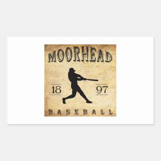 Béisbol 1897 de Moorhead Minnesota Pegatina Rectangular