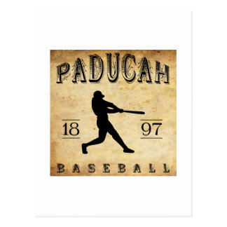 Béisbol 1897 de Paducah Kentucky Tarjetas Postales
