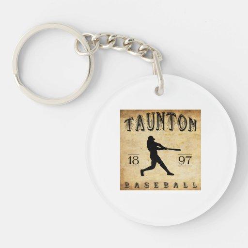 Béisbol 1897 de Taunton Massachusetts Llavero Redondo Acrílico A Doble Cara