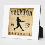 Béisbol 1897 de Taunton Massachusetts Placas De Madera
