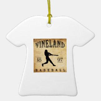 Béisbol 1897 de Vineland New Jersey Adorno De Reyes