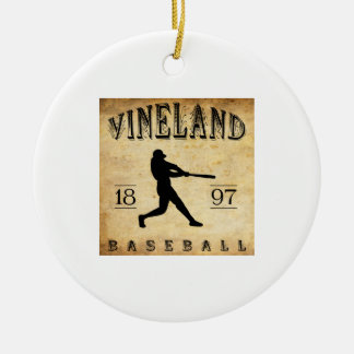 Béisbol 1897 de Vineland New Jersey Ornamento De Reyes Magos