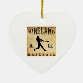 Béisbol 1897 de Vineland New Jersey Ornamentos Para Reyes Magos