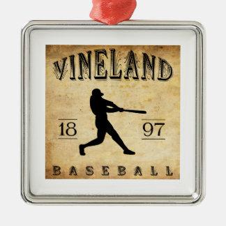 Béisbol 1897 de Vineland New Jersey Ornamento Para Arbol De Navidad