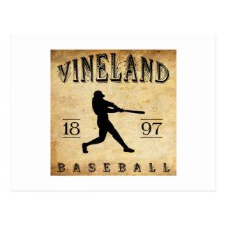 Béisbol 1897 de Vineland New Jersey Tarjetas Postales