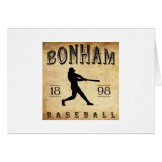 Béisbol 1898 de Bonham Tejas Tarjeta Pequeña