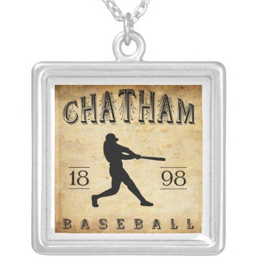 Béisbol 1898 de Chatham Ontario Canadá Pendiente Personalizado