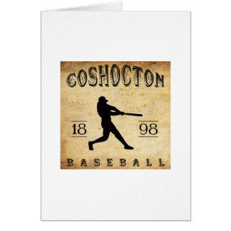Béisbol 1898 de Coshocton Ohio Tarjeta Pequeña