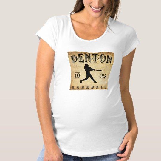 Béisbol 1898 de Denton Tejas Playera De Premamá