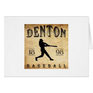 Béisbol 1898 de Denton Tejas Tarjeta Pequeña